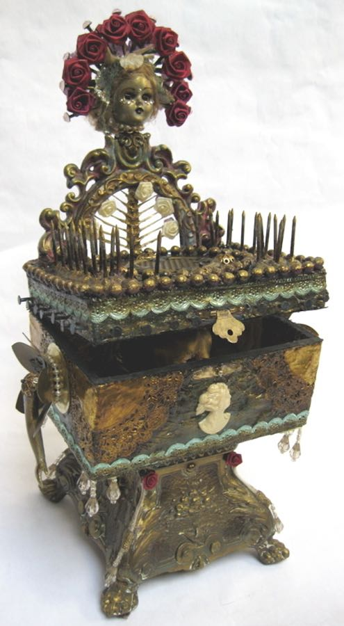 """Right Place, Wrong Time"" - 2011 - Mixed media Music Box - 6"" x 4 1/2"" x 14"" - SOLD"